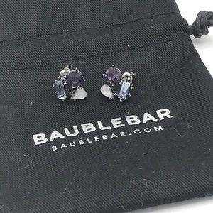 Bauble Bar Purple Rhinestone Cluster Stud Earrings